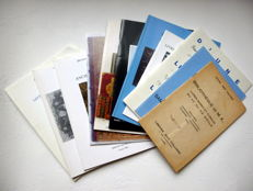 Lot of 11 catalogues of auctions of books, including 8 of the Hotel Drouot - 1959/1996