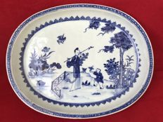 Blue and white platter decorated with Lan Tsai-Ho - China - ca. 1760 (Qianlong period)