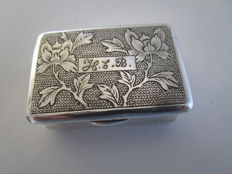 Chinese Export Silver Snuff Box, Canton, ca 1875 - 1895.