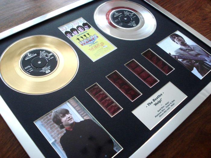 The Beatles - Help! - gold platinum disc film cell montage