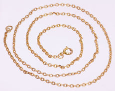 18 kt gold anchor necklace - 48 cm.