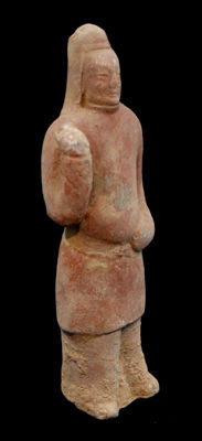 Chinese terracotta statue - height 21 cm - with TL test.