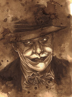 The Joker - Original Coffee Drawing By Juapi