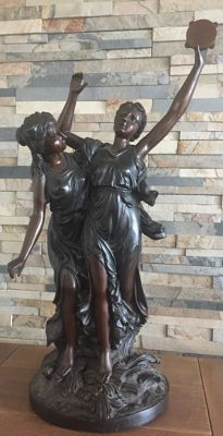 Very large signed bronze sculpture by Barolsky - 19th/20th century