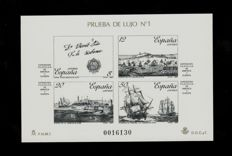 Spain 1987/1990 - Lot with official proofs - Edifil 12, 13, 15A, 18, 19(2), 20, 21, 22.