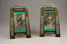Two large photo frames in art deco style, 2nd half of 20th century
