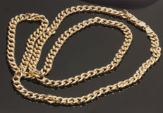 14 kt Yellow gold link necklace - 4.8 mm, width 60 cm.