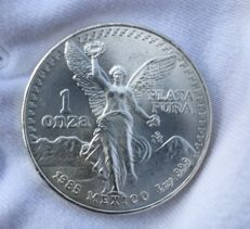 Mexico - 1 OZ Silver Libertad from the year 1985 - Very Rare!