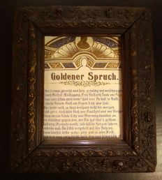 Biedermeier frame with old embossed print 1860-1890