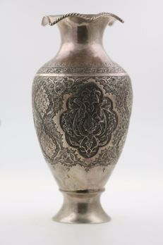 Ottoman silver vase - Middle East - first half of the 20th century