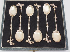 Set Of 6 Putto Spoons, Thomas Glaser, London England c. 1880 - 1900