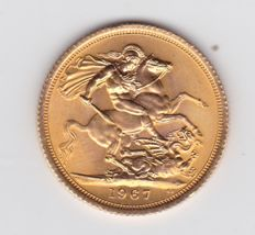 Great Britain -- 1967 Sovereign -- gold pound