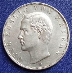 German Reich, Bavaria - 3 mark 1911 D - silver