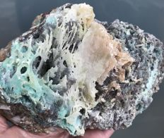 Large colourful druzy Quartz specimen - 17 x 11.5 x 10 cm - 1390 g