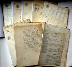 Department of Isère; Large (more than 500) collection of old civil status documents - 1847/1872