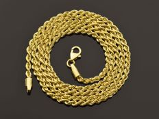 18k Gold Necklace. Chain. Rope - 50 cm.