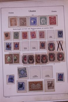 USSR 1858/1972 - batch of stamps from Russia, the Soviet Union, Latvia and Ukraine on blank pages