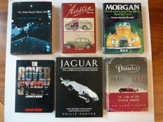6 books on British automobile brands - Rolls-Royce , Daimler , Jaguar , Morgan , Austin and Rover