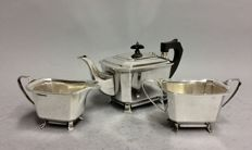 Art Deco silver plated tea-tableware, James Dixon & Sons