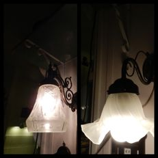 Two nostalgic tasteful wall lamps