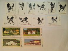 China 1960s - stamps, 8 complete series
