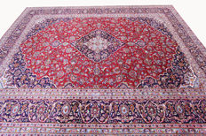 Beautiful Persian carpet Kashan 3.91 x 2.96 real handwoven oriental carpet very beautiful pattern / quality