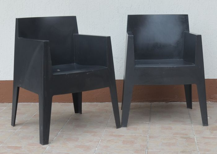 Pair of designer armchairs, Philippe Starck for Driade - Outdoor armchair - Toy Chair, Atlantide Collection