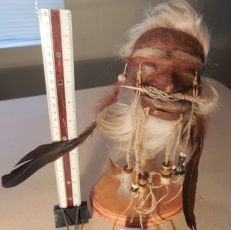 Jivaro Juju Totem - replica Shrunken Head - 150gm