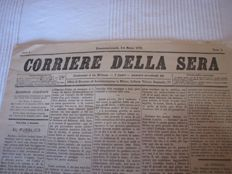 "Newspaper; First issue of ""Corriere della Sera"" - 5-6 March 1876"