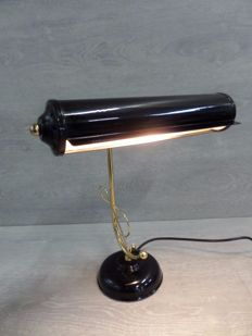 Notary/Bankers Lamp - Brass/Metal - 50s -England