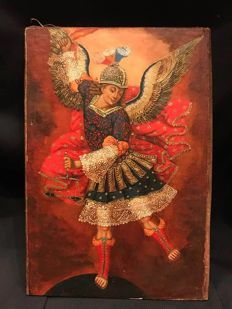 Cuzco Colonial School  - Archangel Saint Miguel