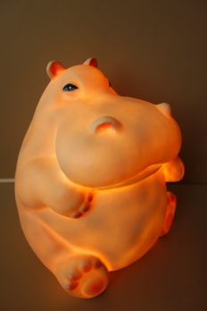 Unknown designer for Heico - Moomin style hippopotamus lamp