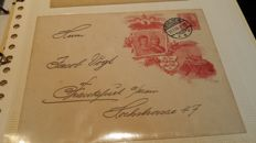 German Empire 1850/1945 - Mail history on letters and cards