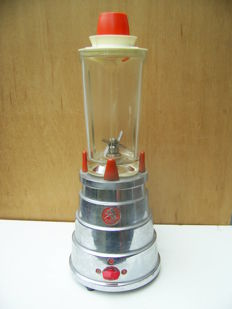Old Swiss Professional Blender - Vintage Turmix Mixer Chrome