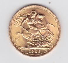 Great Britain -- 1966 Sovereign -- gold pound