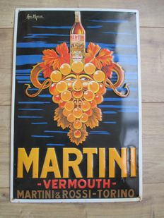 Advertising sign Martini vermouth, ca. 1960/70s