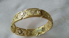 Vintage women's bracelet in 18 kt yellow gold - weight: 33 g
