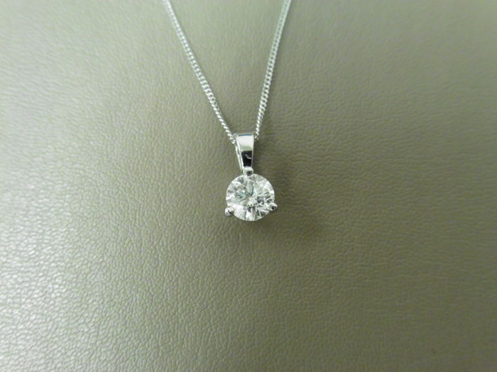 Platinum Diamond Pendant - 0.30ct