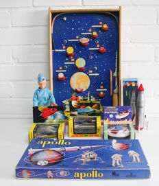 A collection of space toys