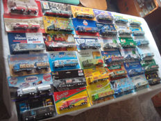 Numerous branded brewery trucks, advertising trucks, some classic ones and rarities, in original packaging, 76 pieces
