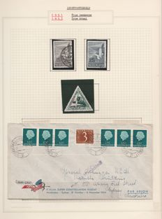 The Netherlands 1921/1960 - Complete collection airmail stamps + some postal items
