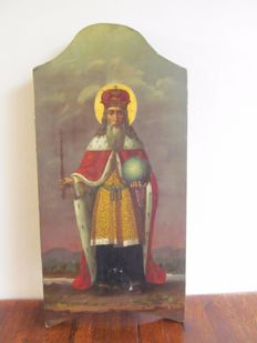 Large Russian icon on wood - Russia - second half 19th century