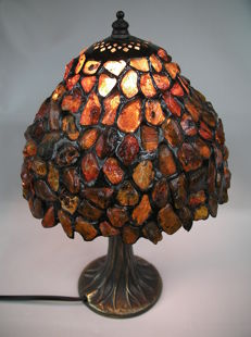 Handmade lamp from Polish Baltic amber