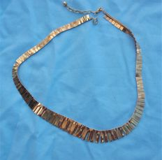 Cleopatra Style Gold Necklace 9ct gold