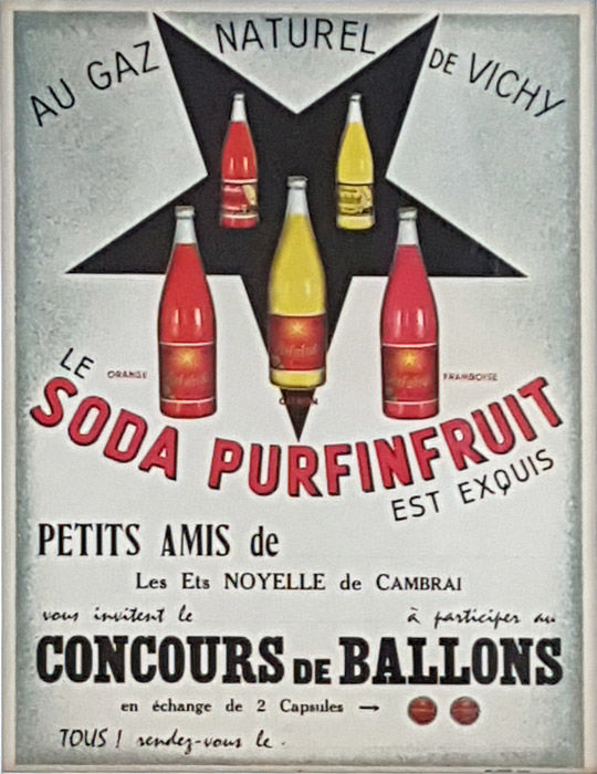 Anonymous - Soda Purfinfruit, concours Ballons - 1950s - Catawiki