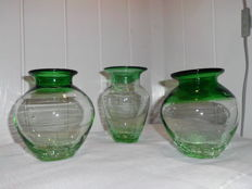 Belfor Exquisite - 3 small vases - Czechoslovakia