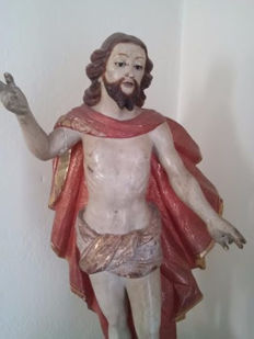 The Resurrected Christ - in wood - 18th century/beginning of the 19th century
