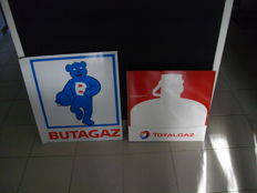 2 advertising gas plates - France - 1995