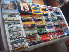 A variety of brands - brewery trucks, advertising trucks, soccer, formula 1, lingerie, special editions, in original packaging, 90 pieces
