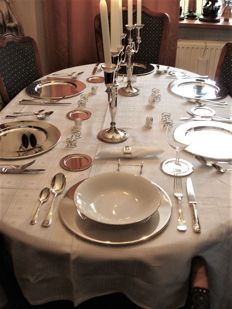 6 person, extensive silver plated Dinner set- ca.60s/70, France